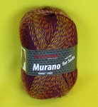 100g Murano not only for Socks Austermann inferno #1104
