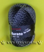 100g Murano not only for Socks Austermann grau #1127