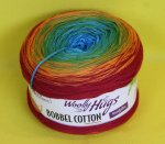 200g Woolly Hugs Bobbel Cotton rainbow #16