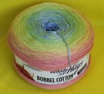 200g Woolly Hugs Bobbel Cotton soft rainbow #17
