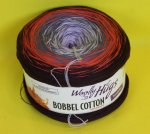200g Woolly Hugs Bobbel Cotton bordeaux flieder #19
