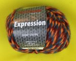 50g Austermann Expression Mouline rot orange grau #05