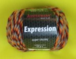 50g Austermann Expression Mouline orange rot grau #07