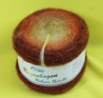 150g Rellana Regenbogen Mohair Metallic Bobbel Orange Juice #540