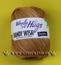 100g Woolly Hugs Bandy Wish Hellbraun #80