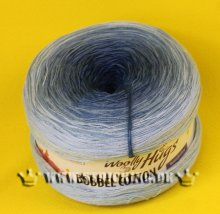 200g Woolly Hugs Bobbel Cotton blau #29