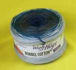 200g Woolly Hugs Bobbel Cotton petrol-taupe #34