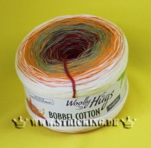 200g Woolly Hugs Bobbel Cotton orange bunt #36