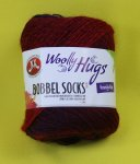 100g Woolly Hugs Bobbel Socks rot #251