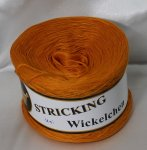STRICKING Bobbel Wickelchen orange #116