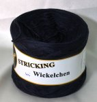STRICKING Bobbel Wickelchen navy mel. #217