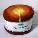 150g Rellana Regenbogen Mohair Orange Juice #440