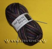 100g braun-lila Hot Socks stripes #614