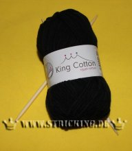 50g uni schwarz King Cotton