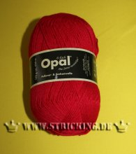150g Rot Opal uni Sockenwolle 6-fach #7900