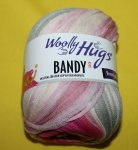 100g Woolly Hugs Bandy Color pink and whithe #15