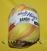 100g Woolly Hugs Bandy Color gelb #14