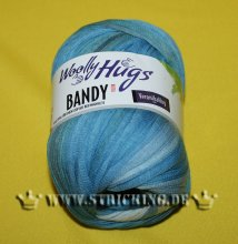 100g Woolly Hugs Bandy Color Blau #12