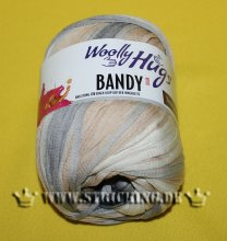 100g Woolly Hugs Bandy Color Creme Anthrazit #11