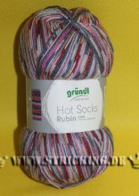 100g lila fuchsia multicolor Hot Socks Rubin #03