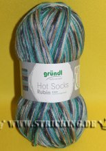 100g braun türkis multicolor Hot Socks Rubin #06