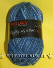 100g Golden Socks Color Pro Lana Blau meliert #908