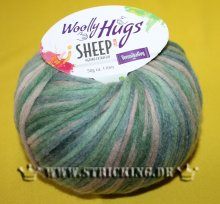 50g Woolly Hugs Sheep Color Grün Mix #80