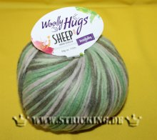 50g Woolly Hugs Sheep Color Hellgrün Mix #86