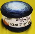 200g Woolly Hugs Bobbel Cotton blau #03