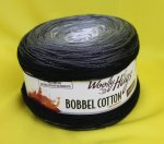 200g Woolly Hugs Bobbel Cotton schwarz #09